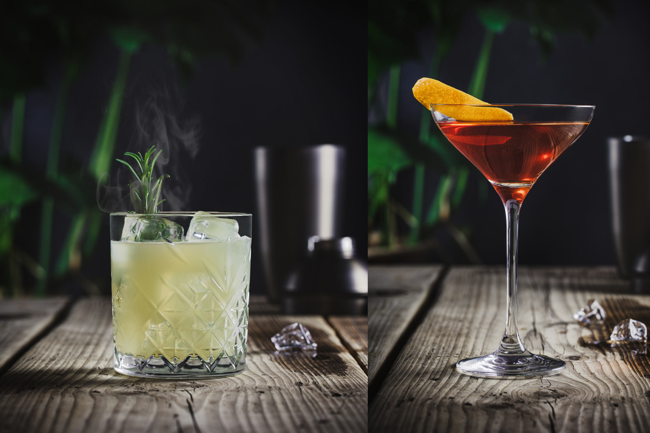 Cocktail lifestyle photography