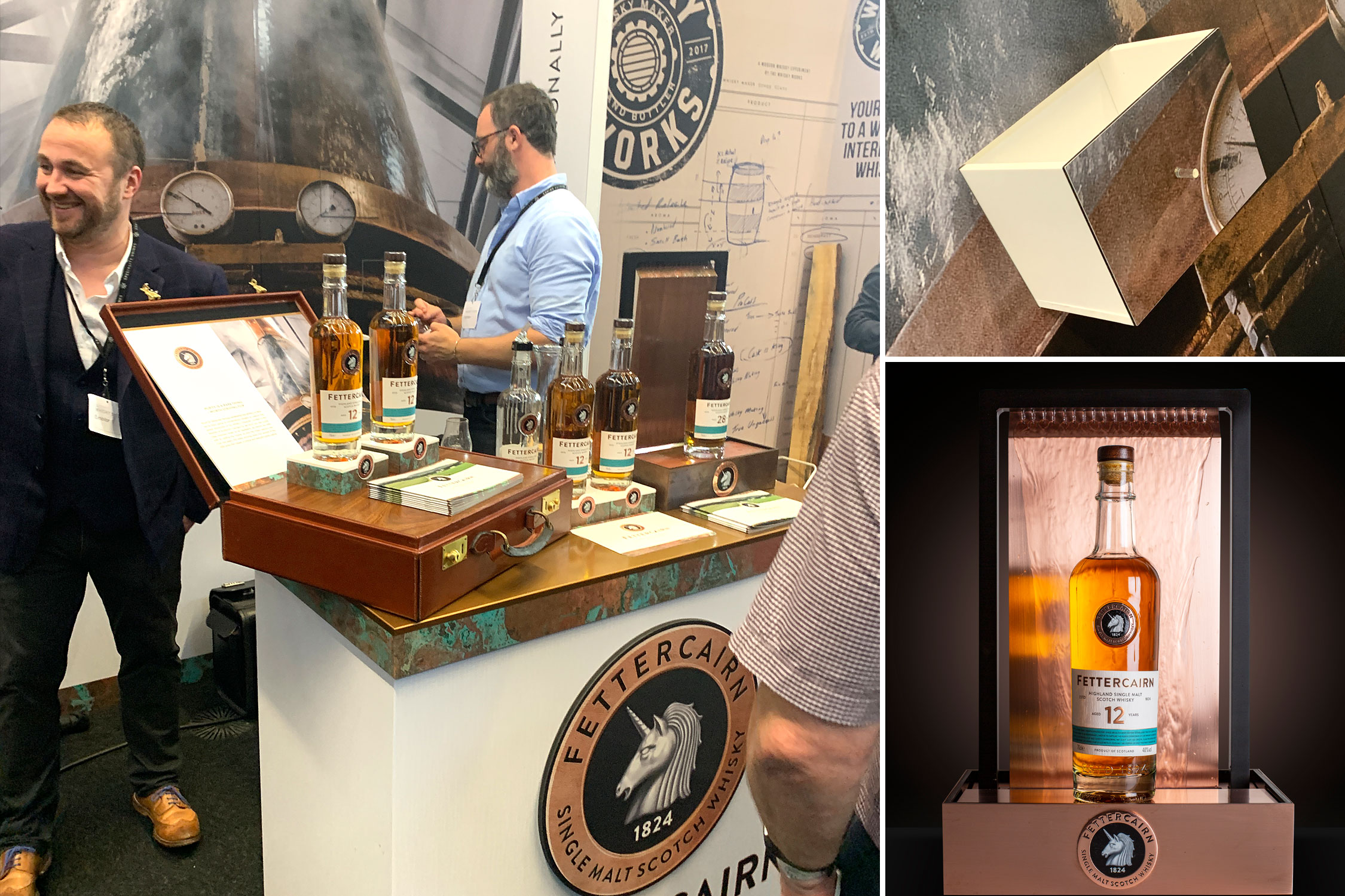 Fettercairn stand, Whisky Exchange Show 2019
