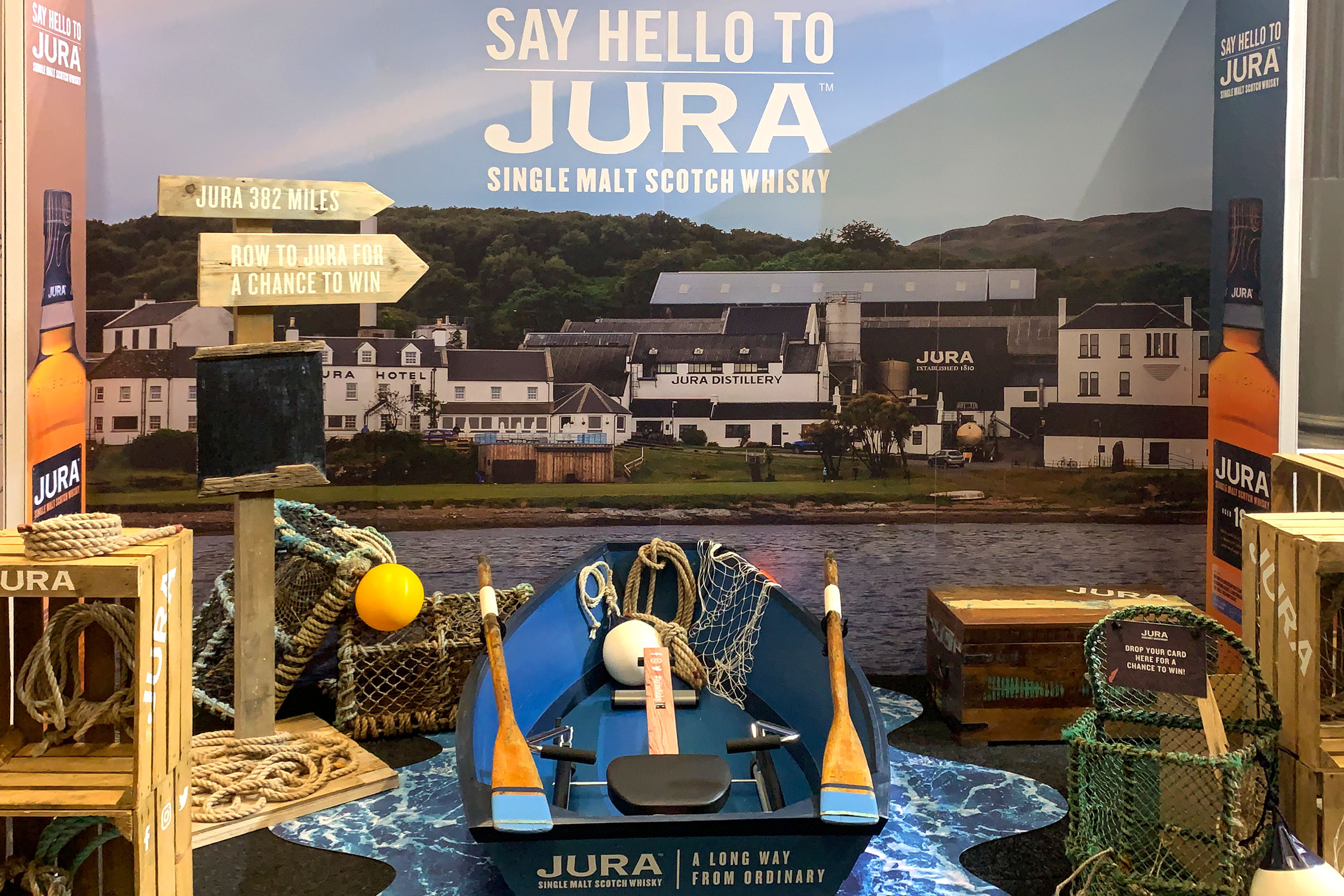 Jura stand, Whisky Exchange Show 2019