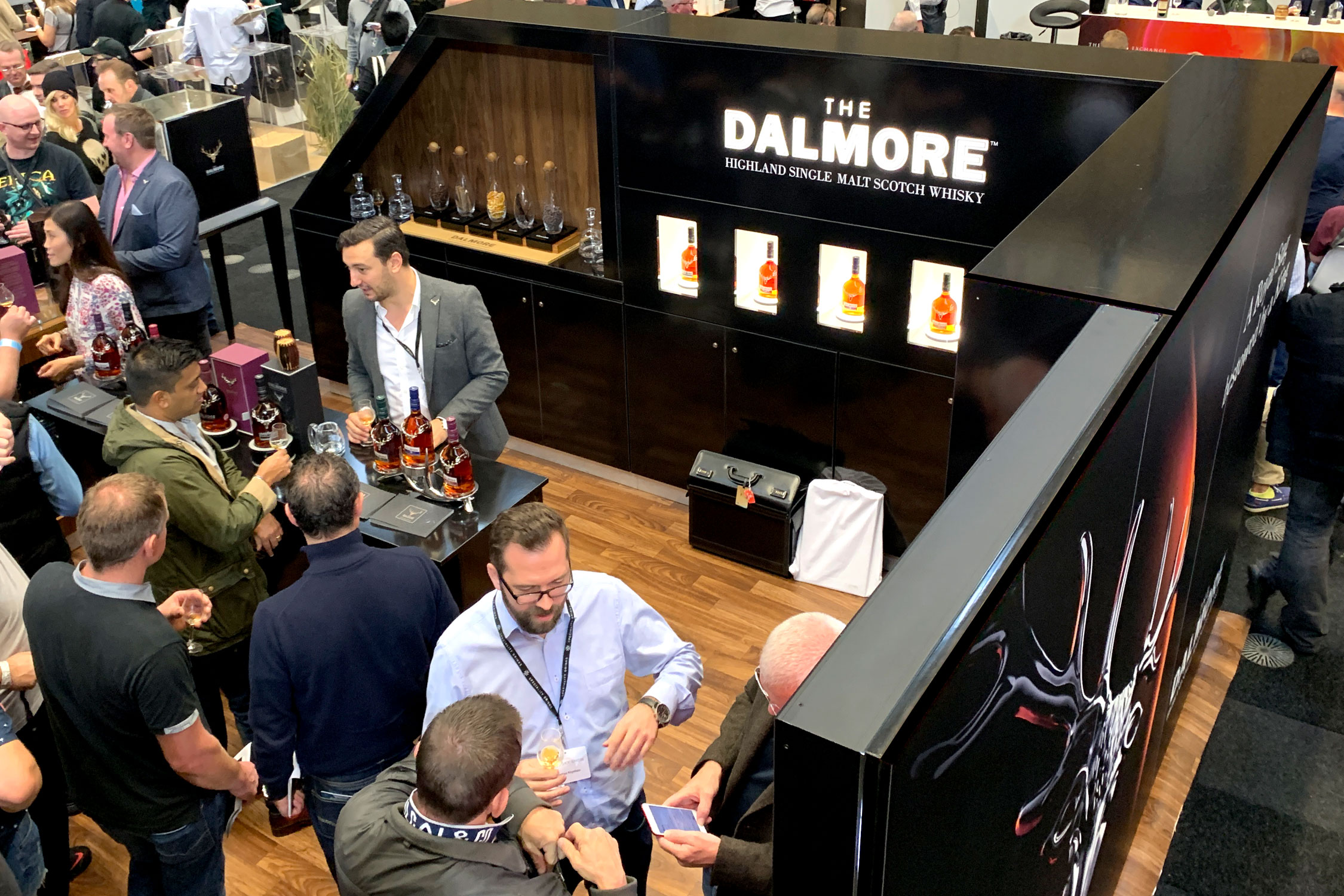 The Dalmore stand, Whisky Exchange Show 2019